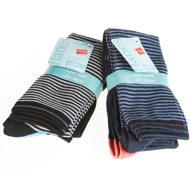 4-Pairs: Ultra soft Hanes Womens Knee-High Socks