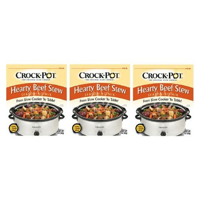 Crock Pot Hearty Beef Stew Seasoning Mix 3 Packet Pack