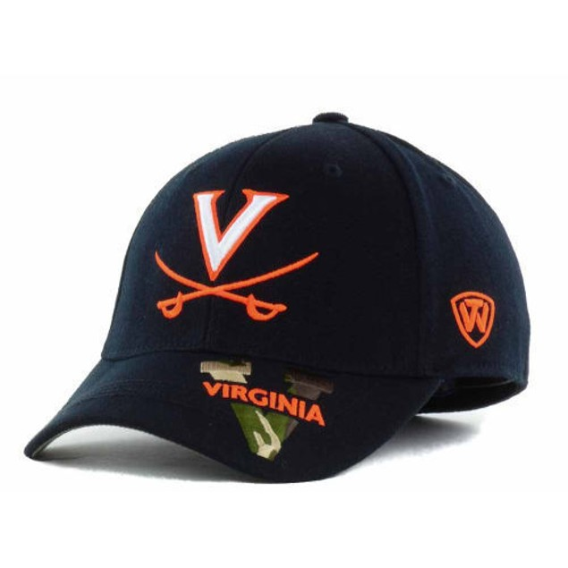 """Virginia Cavaliers NCAA TOW """"Dog Tag"""" Stretch Fitted Hat"""