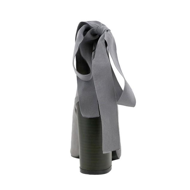 Olivia Miller 'Van Wyck' Open Back Grommet Ribbon Metallic Cap Toe Booties