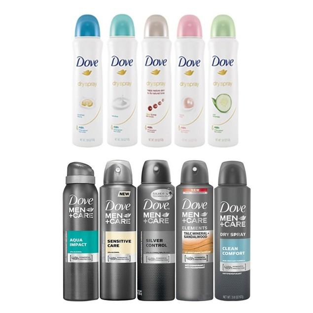 10-Pack Exclusive Dove Antiperspirant Spray Deodorant