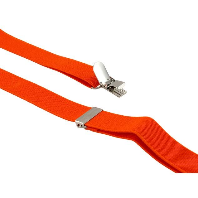 Fun Fluorescent Blaze Orange Suspenders Mens Suspenders