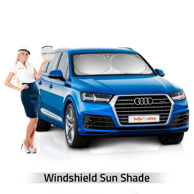BritenWay Windshield Car Sun Shade - Sunshade UV Auto Protector
