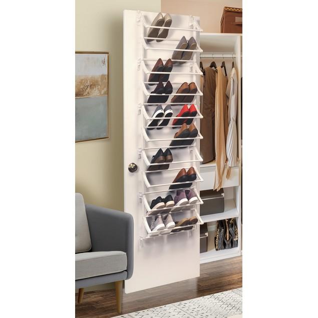 30 Pair Over the Door Shoe Storage Rack