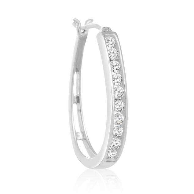 Diamond Hoop Earrings 1cttw