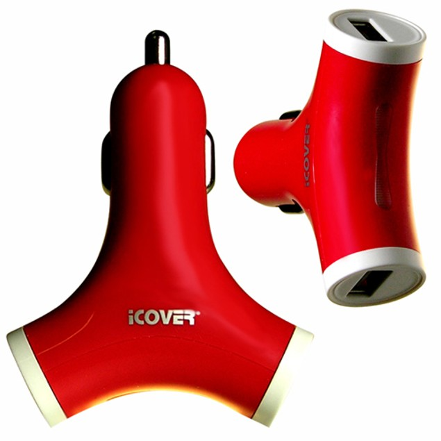 2-PACK iCover Rapid Dual USB Car Charger