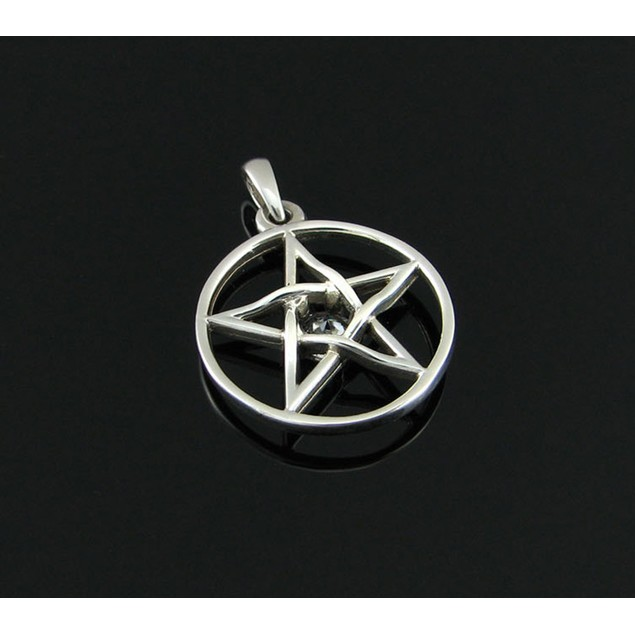Sterling Silver Pentacle Charm / Pendant With Individual Pendants