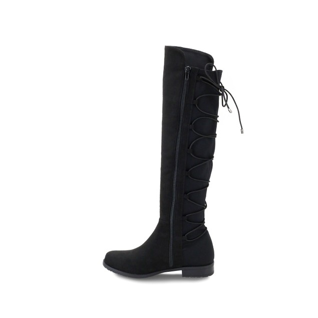 Olivia Miller 'Smithtown' Back Laced Stretch Riding Boots