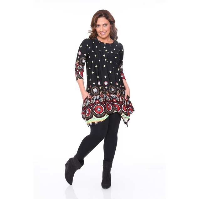Plus Size Lucy Paisley Tunic Top - 3 Colors