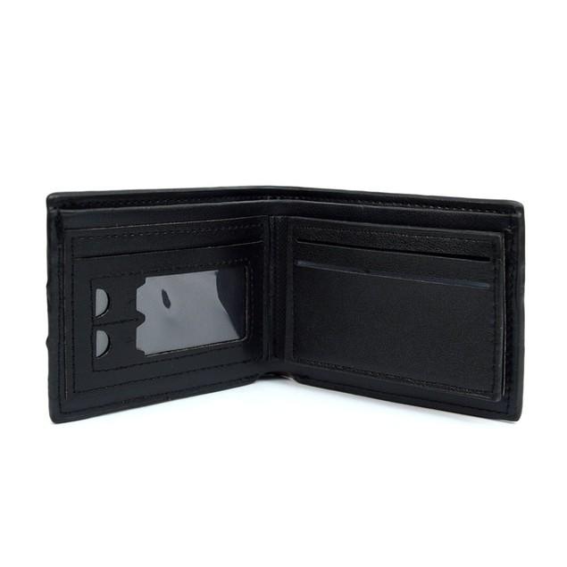 Bi-FoldLeather Wallet with Striped Decoration