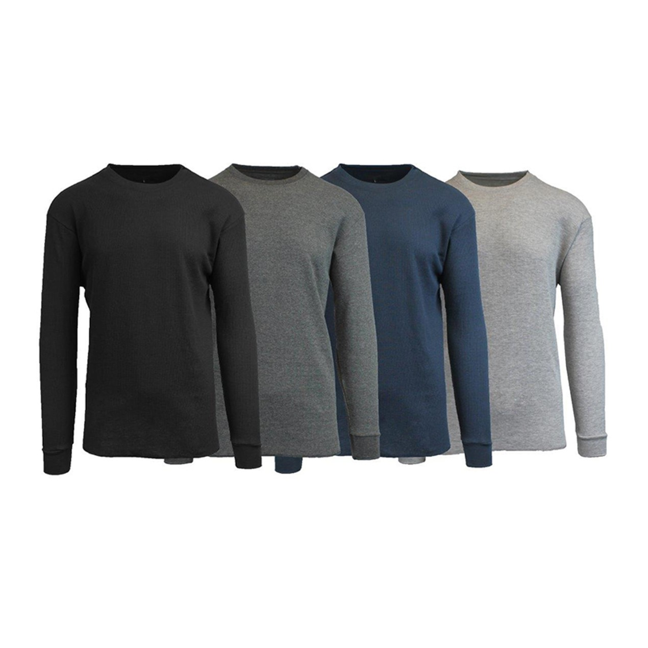 20a5488ed972 4-Pack  Men s Galaxy by Harvic Waffle Knit Thermal Shirts - Tanga