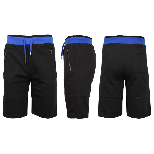 Men's Fleece Jogger Shorts with Zipper Pockets (S-2XL)