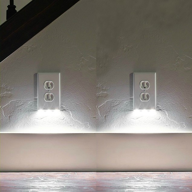 5-Pack Outlet Cover with Built-In LED Night Light - 2 Styles