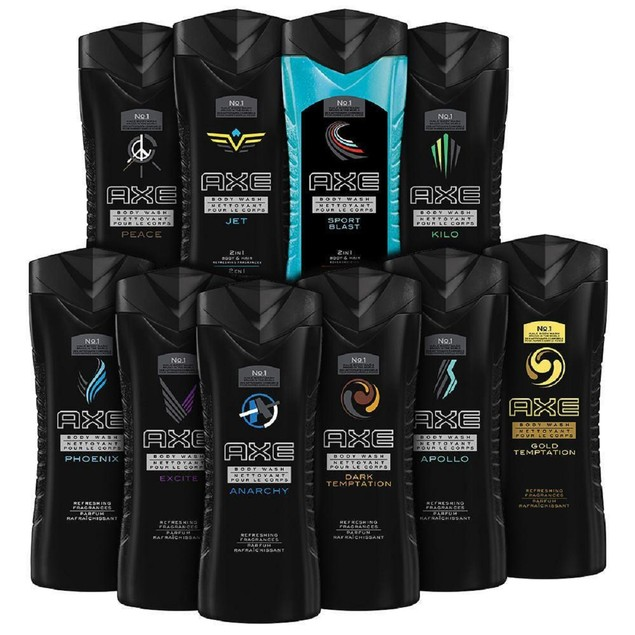 10-Pack AXE Shower Gel / Body Wash 8.45 oz