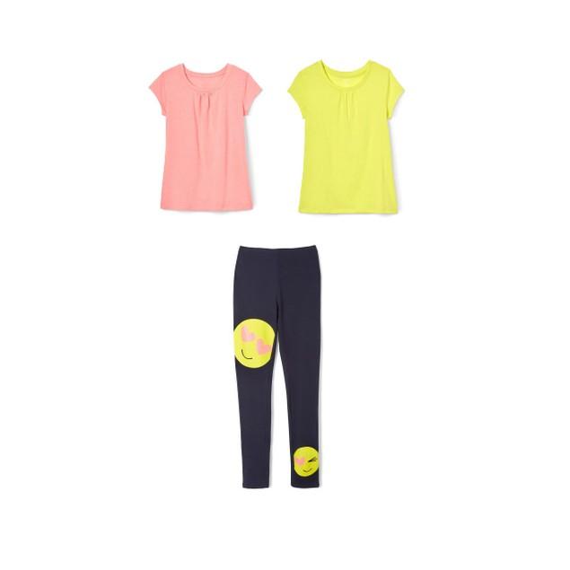 3-Pack French Toast Girls Summer Set - Smiley Emoji