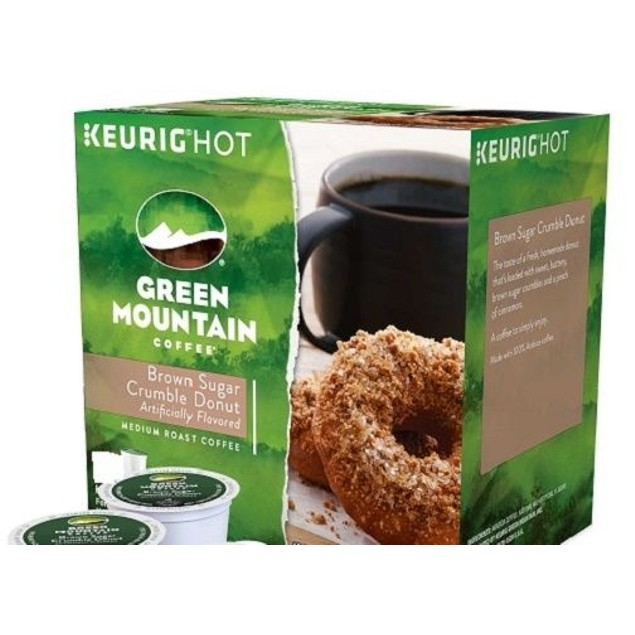 Green Mountain Brown Sugar Crumble Donut Keurig K-Cups 12 Cup Box
