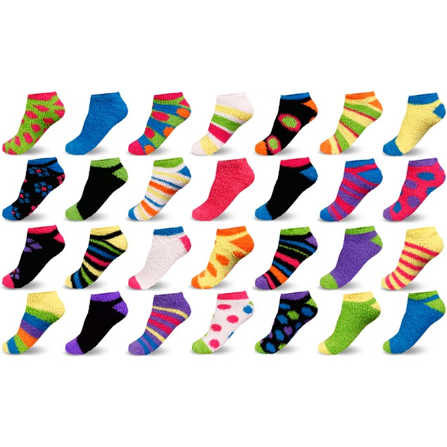10-Pairs Mystery Deal: Women's Warm Cozy Fuzzy Fluffy Slipper Socks