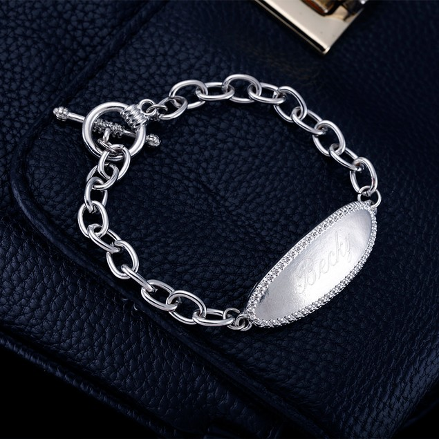 Personalized Sterling Silver ID Bracelet