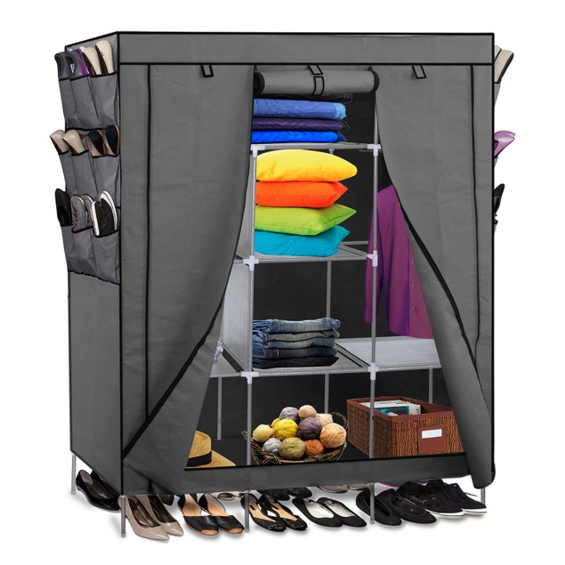 Oxgord Portable Shelf Storage Organizer Closet Tanga