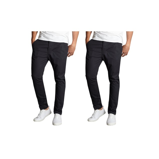 2-Pack Men's Slim Fit Cotton Stretch Chino Pants