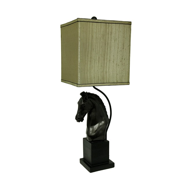 Antique Bronze Finish Horse Head Table Lamp Set Of Table Lamps