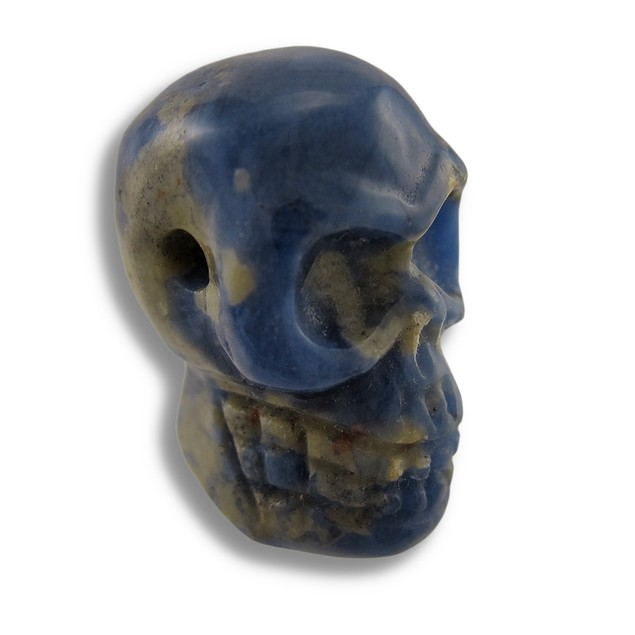 Carved Sodalite Gemstone Skull Pendant 25Mm 1 Inch Loose Gemstones