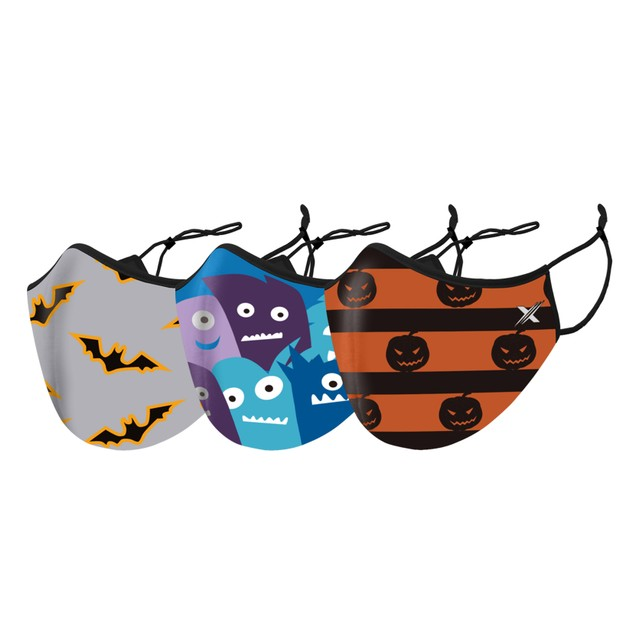 6-Pack Adults Halloween Reusable Face Mask With Adjustable Ear loops