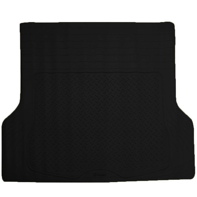 Zone Tech Trimmable Car Auto Rubber Black Cargo Trunk Heavy Duty Floor Mat