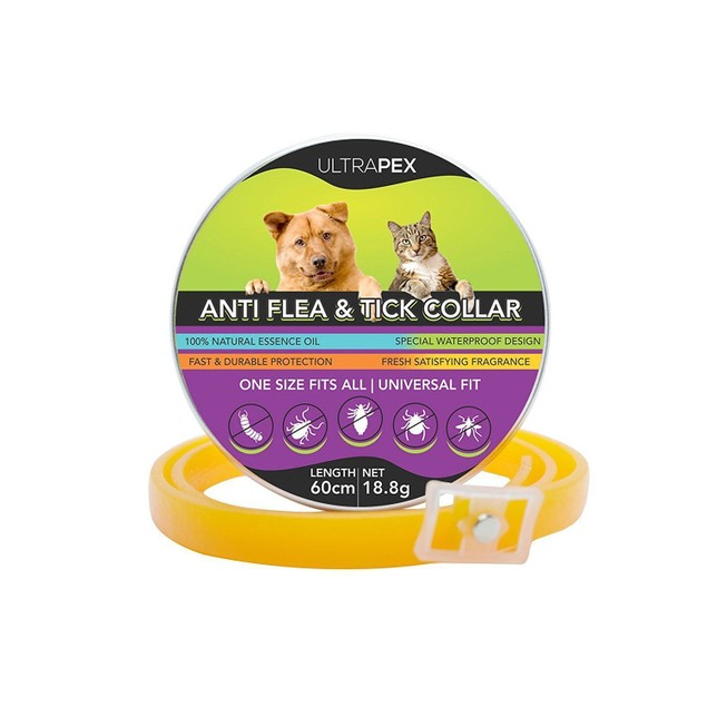 3-Pack Ultrapex Anti Flea & Tick Collar for Dogs and Cats - Universal Size