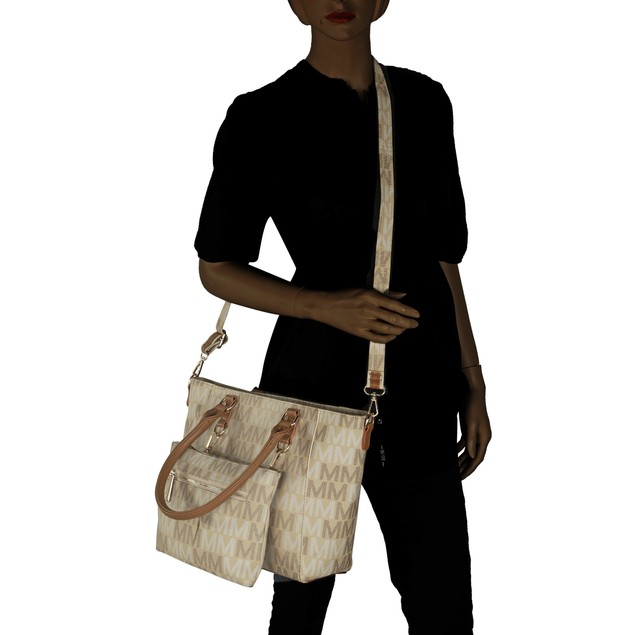 MKF Collection Karma M Signature Tote Crossbody Bag by Mia K. Farrow