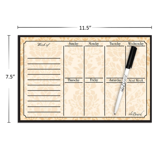 Weekly Calendar Magnet with Marker - Assorted Colors
