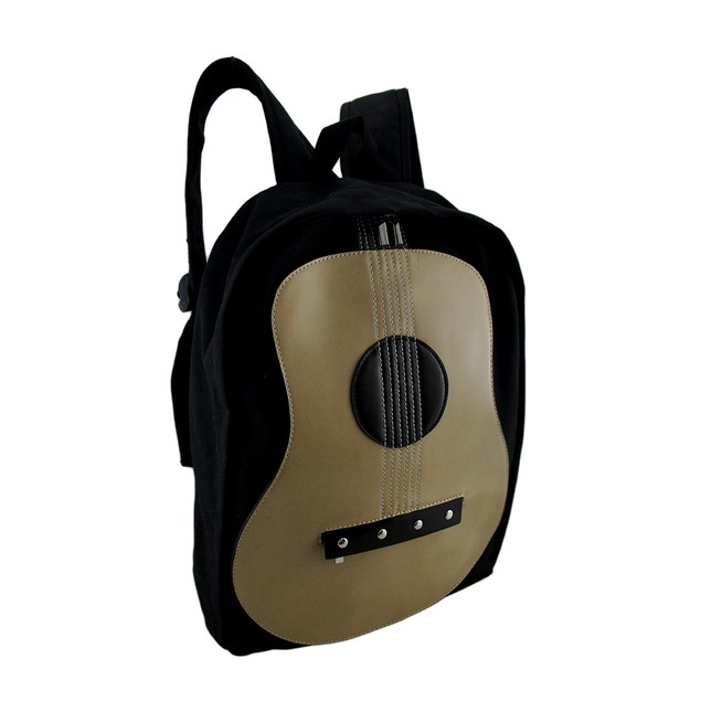 Classic Acoustic Guitar Cotton Canvas Backpack Basic Multipurpose Backpacks