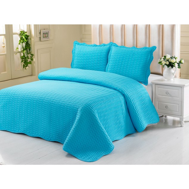 Sally Mizrahi Embossed Quilt Set - Spring Collection
