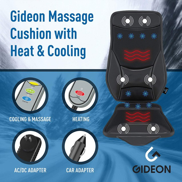 Gideon Luxury Cooling and Heating Ventilated Seat Cushion for Car and Home