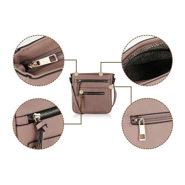 MKF Collection Elise Multi Pockets Crossbody Bag by Mia K.