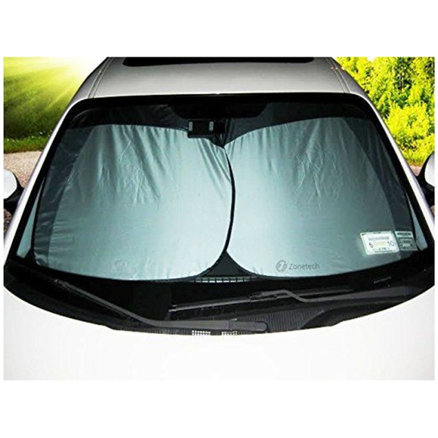 Zone Tech 2x Nylon Car Vehicle Windshield Magic Summer Sun Shade Protection