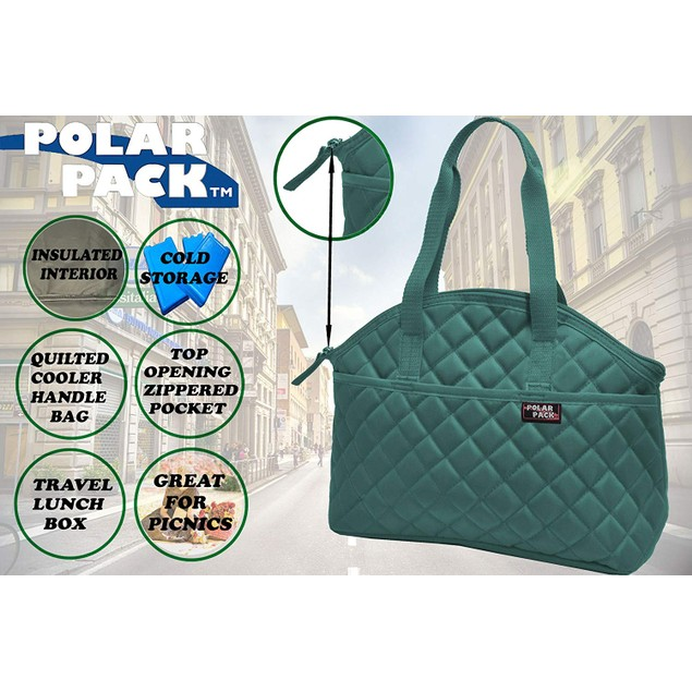 Polar Pack Quilted Carry Handle Cooler Bag - 4 Colors