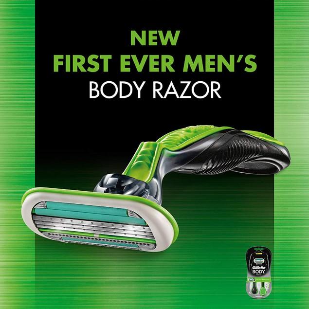 Gillette Body Men's Disposable Razors, 2 Count (Pack of 3)
