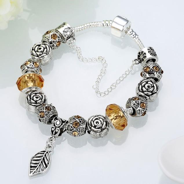 Cream Soda Leaf Branch Designer Inspired Bracelet