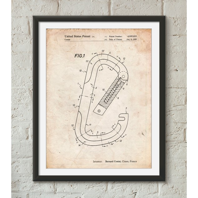 Oval Carabiner Patent Poster