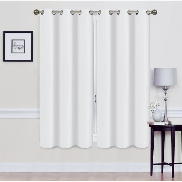 Foam-Backed Energy Saving Blackout Panel Pair w/ Grommets