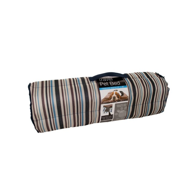 Soft Durable Roll Up Travel Pet Bed With Carry Handle