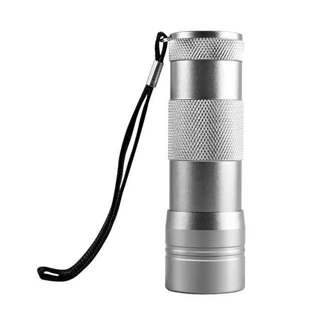 2-Pack 12-LED UV Leak Stain and Residue Detection Flashlight