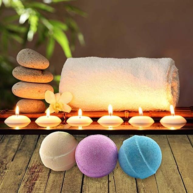 6-Piece Set of Organic Handmade Bath Bombs