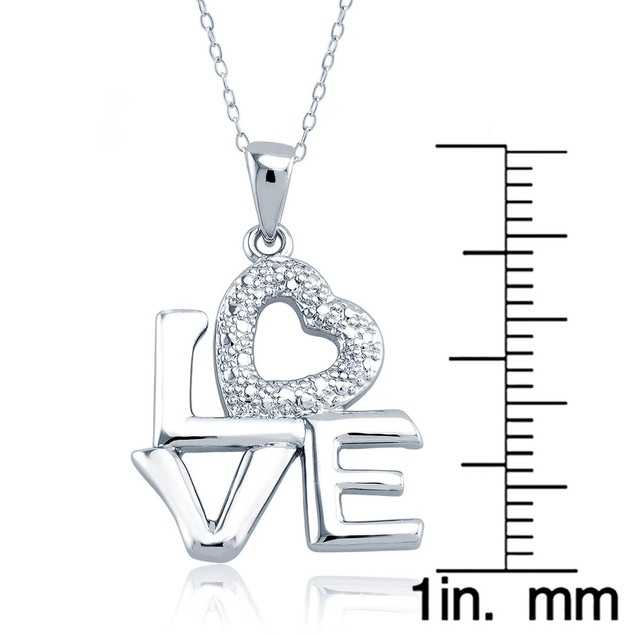 1/10cttw Diamond Accent Stacked Love Necklace