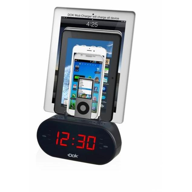DOK Alarm Clock with Universal Smart Phone Cradle