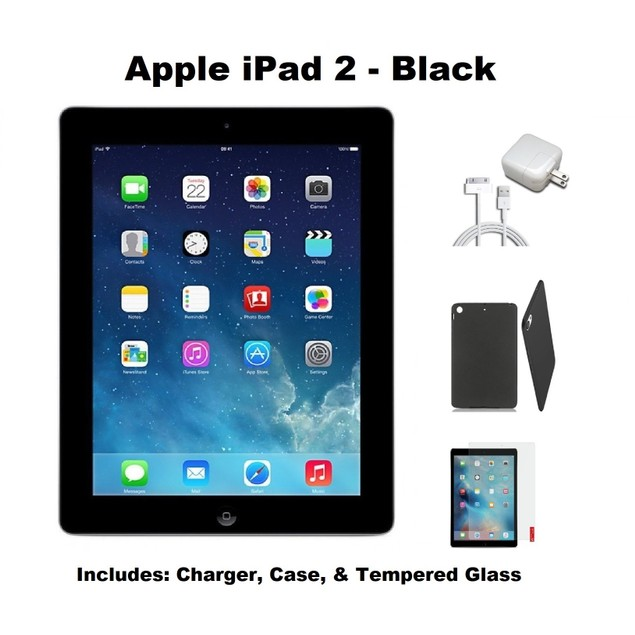 Apple iPad 2 Bundle (Case, Charger, Screen Protector, iPad)