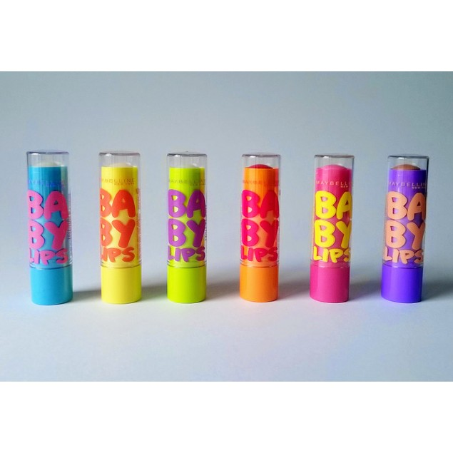 6-Pack Maybelline Baby Lips Moisturizing Lip Balm - 0.15oz Each