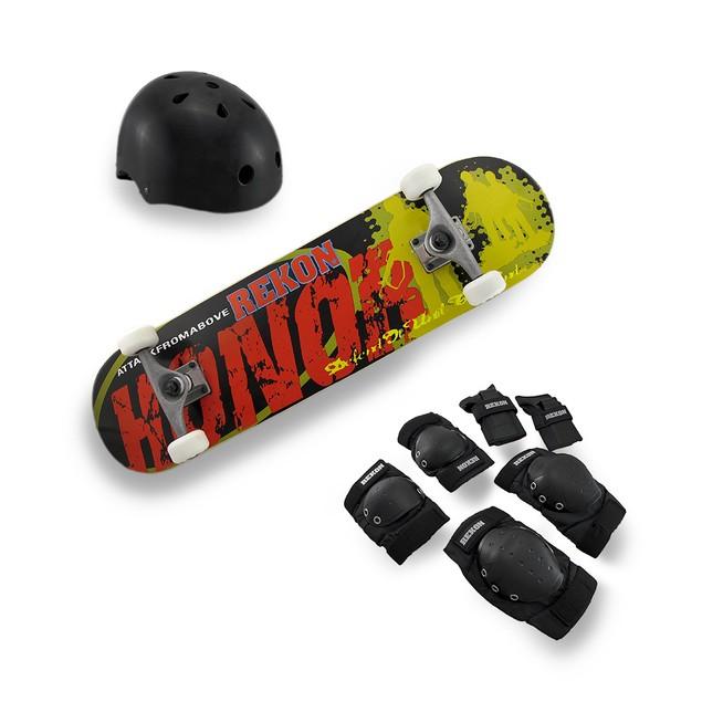 Rekon Complete Skate Kit Maple Skateboard `Honor` Standard Skateboards