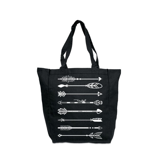 Arrow Black Tote Bag
